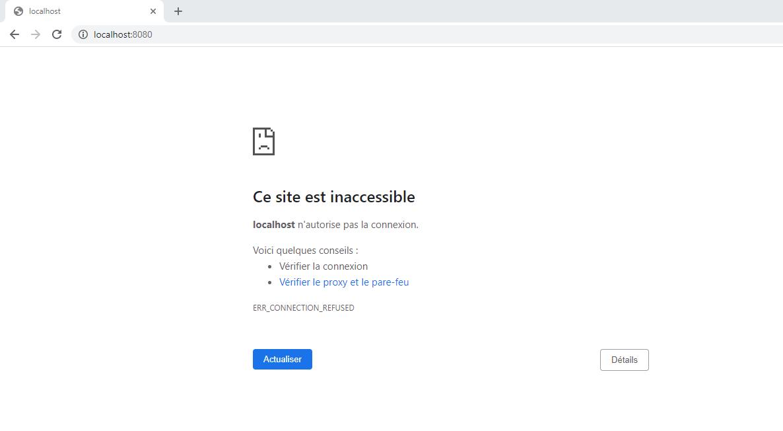 Site inaccessible 27 novembre